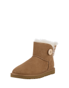UGG, Dames Boots 'Mini Bailey Button', cognac