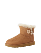 UGG, Dames Snowboots 'Mini Bailey Button II', cognac