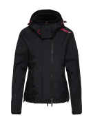 Superdry, Dames Functionele jas 'TECH HOOD POP ZIP WINDCHEATER', zwart