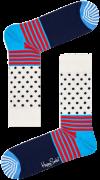 Happy Socks Chaussettes STRIPES & DOT SOCK en blanc
