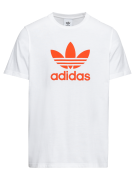 ADIDAS ORIGINALS, Heren Shirt 'TREFOIL', donkeroranje / wit