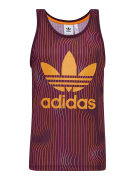 ADIDAS ORIGINALS, Heren Shirt 'Warped Stripes Tank', lila / sinaasappe...